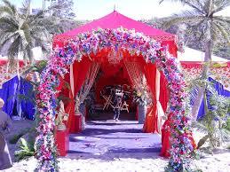 Raj Tents Indian Wedding Set Entrance