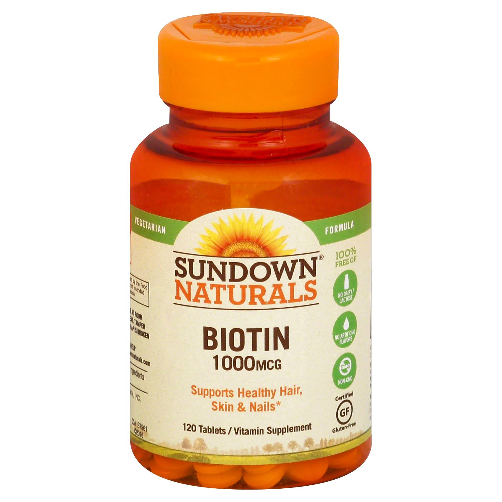 Sundown Naturals Biotin Vitamin Supplement - 1000mcg, 120ct