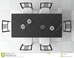 Dining Table Top View Vector Tables