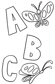 Abc Coloring Pages For Kindergarten Web Art Gallery Preschoolers