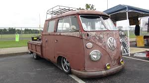 Four Door VW Van/truck With Fold Down Bed Sides And A Roof Rack ...