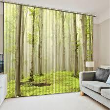 rideau fenetre chambre vert forêt 3d fenêtre rideaux pour literie chambre forêt rideau