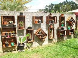 Wood Crate Planter Display Fence Decor 20 Decoration Makeover DIY Ideas