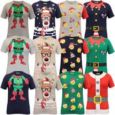 mens christmas t shirt ho ho ho xmas emoji santa claus elf