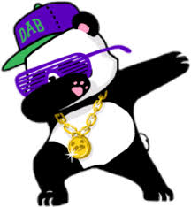 Panda Dab Cute Blackandwhite Svg Free Library