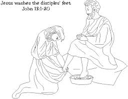 Jesus Washing The Feet Of His Disciples There Are Several These Fabulously Detailed Coloring Pages