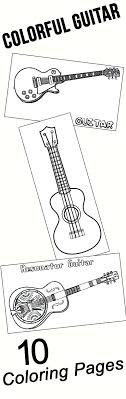 Musical Instrument Coloring Pictures Instruments Pages Printable To Print Colorful Guitar For Your Little Ones