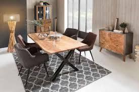 sit esstisch tops tables aus massiver akazie mit baumkantenoptik
