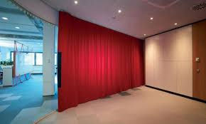 soundproof curtains in an open concept office design engineering360