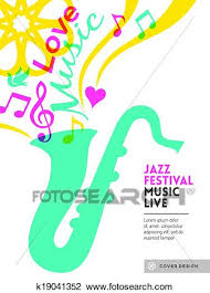 Clipart Of Jazz Music Festival Graphic Design Background Template