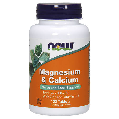Now Foods Magnesium and Calcium - 100 Tablets