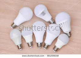 different types led light bulbs on stock photo 548380567