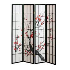 Japanese Cherry Blossom Bathroom Set by Amazon Com 4 Panel Cherry Blossom Design Room Divider 4 Panel