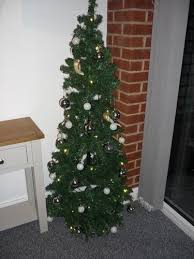 4 Ft Pre Lit Christmas Tree Asda by 5ft Pop Up Pre Lit Led Christmas Tree Silver And White Baubles