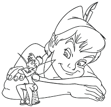 Tinkerbell Coloring Book Pdf Peter Pan Tinker Bell Pages Disney Full Size