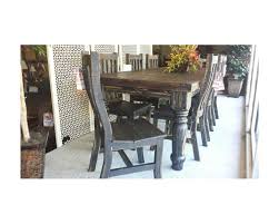 Rustic Dark Wood Dining Room Table W/ Chairs - Custom Furniture And ... Top 30 Great Expandable Kitchen Table Square Ding Chairs Unique Entzuckend Large Rustic Wood Tables Design And Depot Canterbury With 5 Bench Room Fniture Ashley Homestore Hcom Piece Counter Height And Set Rustic Wood Ding Table Set Momluvco Beautiful Abcdeleditioncom Home Inviting Ideas Nottingham Solid Black Round Dark W Custom