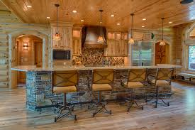 refined log home rustic kitchen other by destree design