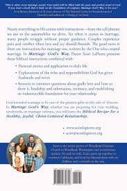 Marriage Gods Way By Scott LaPierre Back Cover
