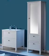 badmöbel set ole weiß 3 teilig badezimmer mit unterschrank keramik waschbecken und hochschrank mit spiegeltür