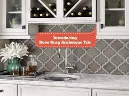 introducing dove gray arabesque tile kitchen dove