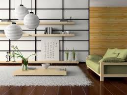 This Modern Japanese Living Room Is Done In Cream And Light Green With Woods