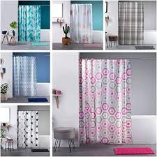 wohndirect duschvorhang 180x180cm badematte 40x60cm farblich passenden duschvorhangringe schönes bad accessoires als bad set in grau