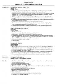 Magnificent Child Care Resume Sample Traineeship Worker Australia