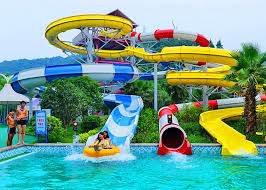 Adult Construction Spiral Swimming Pool Slide Theme Park Water 90 KW Power