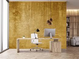 ockerhaltiger gelber beton auf fototapete