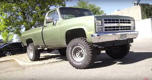 Chevy K10 Named 'Big Green' Is A Hulking Badass Dragster (Video ... 1985 Chevy Stepside Showstreet Truck For Sale Or Trade Mint Chevrolet Scottsdale Id 12478 Silverado K10 4x4 Stock 324855 Near Ck Truck Cadillac Michigan 49601 C10 The Dime Photo Image Gallery Air Bagged Dragging On The Body Built By Wcd Pickup C20 Youtube Models Trucks Fresh Killer By Metal Swb Texas Trucks Classics Toy Shed Gateway Classic Cars 592dfw Shortbed Fleetside In Key Largo Fl
