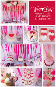 Pink And Gold Birthday Themes by We Love Lucy A First Birthday Party The Titled Blog