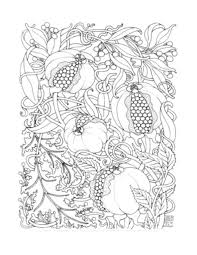 Complex Coloring Pages Fruits