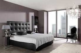 chambre avec lit noir décoration de chambre 55 idées de couleur murale et tissus