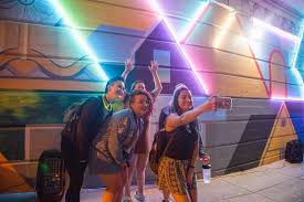 Big Ang Mural Unveiling by Arcadia Students Light Up Glenside With Mural Reveal Arcadia