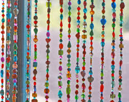 Glass Bead Curtains For Doorways by Beaded Curtain Bohemian Curtain Window Curtain Beaded Door