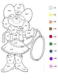 Western Girl Color By Number Coloring Page