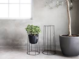 Patio Plant Stand Uk by Buy The Menu Wire Plant Pot Black At Nest Co Uk