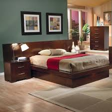 jessica eastern king platform bed with rail seating and lights