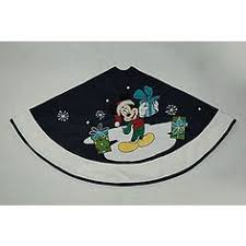 Kmart Christmas Tree Skirt by Christmas Joy Mickey Machine Embroidery Applique Approximate 4x4