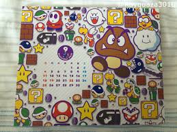 Mario Question Mark Block Hanging Lamp by 2016 Super Mario Calendar Japanese Club Nintendo Nintendo