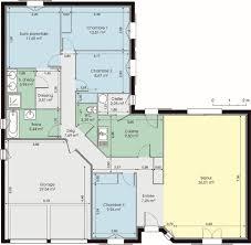 maison plain pied 5 chambres plan maison 100m2 plein pied gratuit cuisine modele plain garage and