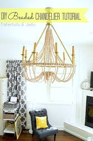 How To Make A DIY Wood Beaded Chandelier