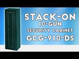 Stack On Security Cabinet Replacement Lock by Stack On Gcg 910 Ds 10 Gun Security Cabinet Youtube