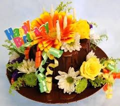 birthday cake with flowers images florists happy birthday cake from florist in click here for larger