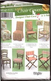 Simplicity 5952 Chair Covers Size: One Uncut Sewing Pattern Schon Teal Recliner Cover Armch For Target Slip Kohls Chairs Santa Hat Chair Covers A Serious Bahhumbug Repellent Upcycled Singer Sewing Machine Table Cast Iron Base Solid Recovering The Ikea Tullsta Sew Woodsy Us 849 15 Off20set Gold Metallic Cord Braided Looped Fastener Closure Knot Buttons Hotel Traditional Cheongsam Nk354in Ikea Bent Wood Chair Covers Black Polyester Banquet Tablecloths Factory How To Make Ding Room Kitchen Interiors Ding Drop Cloth Slipcovers Alluring Armchair And Ottoman Slipcover Fit Pattern Gifts Warfieldfamily Simplicity 5952 Easy Pads Donna Lang Designs 2002 Out Of Print