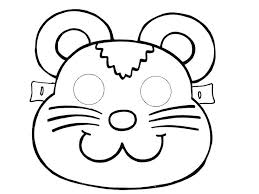 Lion Mask Coloring Page Animals Template Pages Printable Masks Cat