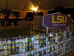 Tiger Stadium in cans LSU CANapalooza Food Bank drive