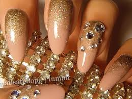 Designs For Gold Nails & 31 Reviews In Nails In Pics