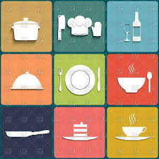 Restaurant Kitchen And Cooking Icons