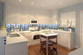 blue and white kitchen tiles home design